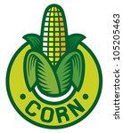 corn label | Shutterstock .eps vector #105205463