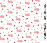 vector illustration. flamingo...   Shutterstock .eps vector #1052060507