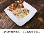 table served for one in... | Shutterstock . vector #1052064413