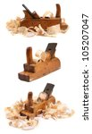 Three Old Wooden Carpenter's...