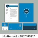 business identity design... | Shutterstock .eps vector #1052081057