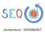 illustration of a seo concept | Shutterstock . vector #1052086967