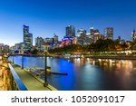 melbourne on the northbank of... | Shutterstock . vector #1052091017