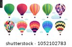 hot air balloons   set of... | Shutterstock .eps vector #1052102783