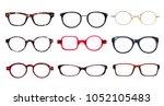 set of glasses isolated on...