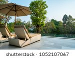 comfortable chair at the... | Shutterstock . vector #1052107067