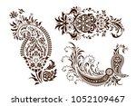 set of monochrome butas....   Shutterstock .eps vector #1052109467
