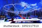 winter time  children at home ... | Shutterstock . vector #1052117513