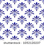 floral ornament backdrop damask ... | Shutterstock .eps vector #1052120237