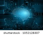 an artificial intelligence... | Shutterstock .eps vector #1052128307