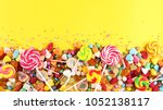candies with jelly and sugar....   Shutterstock . vector #1052138117