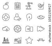 thin line icon set   factory... | Shutterstock .eps vector #1052150927