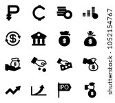 solid vector icon set   ruble...
