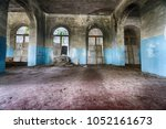 interior of abandoned building. | Shutterstock . vector #1052161673