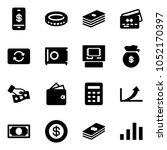solid vector icon set   mobile... | Shutterstock .eps vector #1052170397
