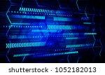 binary circuit board future... | Shutterstock .eps vector #1052182013