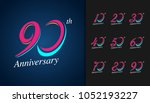 set of anniversary logotype.... | Shutterstock .eps vector #1052193227