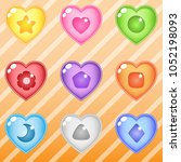 heart candy block puzzle button ... | Shutterstock .eps vector #1052198093