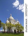 sacre coeur basilica in paris ...   Shutterstock . vector #105221417