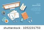 online education  training ... | Shutterstock .eps vector #1052231753