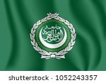 flag of the league of arab... | Shutterstock .eps vector #1052243357
