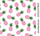 pink pineapple with triangles... | Shutterstock . vector #1052247833