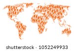 global map collage organized of ...   Shutterstock .eps vector #1052249933