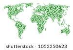 worldwide map collage designed...   Shutterstock .eps vector #1052250623