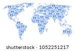 continent atlas mosaic composed ... | Shutterstock .eps vector #1052251217