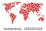international map mosaic done...   Shutterstock .eps vector #1052251223