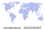world map concept made of...   Shutterstock .eps vector #1052252207