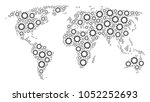 continent map pattern done of...   Shutterstock .eps vector #1052252693
