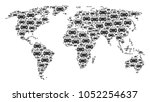 global map collage organized of ...   Shutterstock .eps vector #1052254637