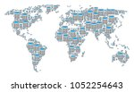 global geography map pattern... | Shutterstock .eps vector #1052254643