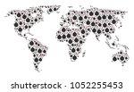 earth atlas mosaic made of bomb ...   Shutterstock .eps vector #1052255453