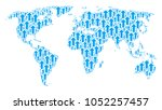 continent map pattern created... | Shutterstock .eps vector #1052257457