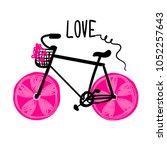 t shirt design for girl. love...   Shutterstock .eps vector #1052257643
