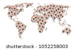 worldwide map collage organized ...   Shutterstock .eps vector #1052258003