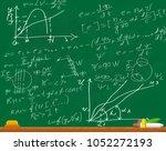 formulas written on the... | Shutterstock .eps vector #1052272193