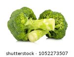 broccoli isolated on white... | Shutterstock . vector #1052273507