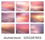 set of abstract backgrounds for ... | Shutterstock .eps vector #1052287853