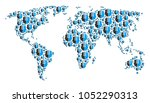 geographic map mosaic designed... | Shutterstock . vector #1052290313