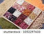 different types of legumes. in... | Shutterstock . vector #1052297633