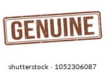 genuine grunge rubber stamp on... | Shutterstock .eps vector #1052306087