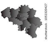 belgium map black gradient grey ...   Shutterstock .eps vector #1052320427