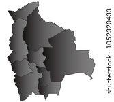 bolivia map black gradient grey ...   Shutterstock .eps vector #1052320433