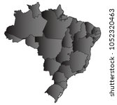 brazil map black gradient grey...   Shutterstock .eps vector #1052320463