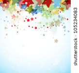 abstract color stars vector... | Shutterstock .eps vector #105234083
