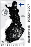 finland black map and flat map...   Shutterstock .eps vector #1052341007