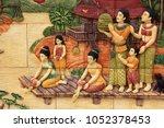 illustration of thai culture... | Shutterstock . vector #1052378453